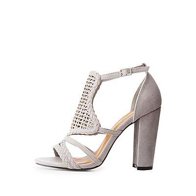 Laser Cut Braided Sandals