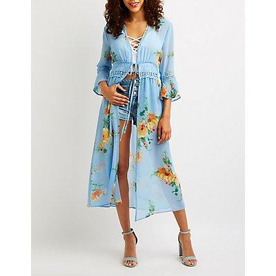 Floral Crochet Kimono