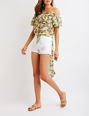 Floral Off The Shoulder Tunic