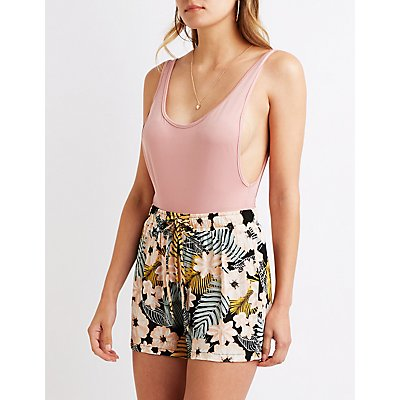 Floral Drawstring Shorts