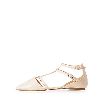 Strappy Pointed Toe Flats