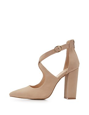 Pink suedette 'Cuff' mid stiletto heel pointed shoes discount browse clearance finishline discount factory outlet sast for sale hot sale online mGa8KJ9