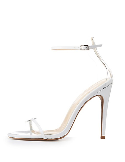 PVC Ankle Wrap Sandals