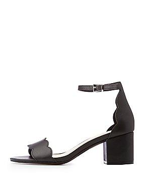 Ankle Strap Scallop Sandals