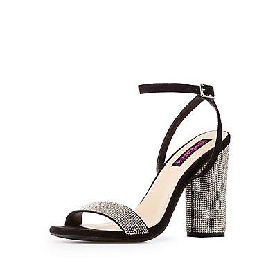 Crystal Ankle Strap Sandals