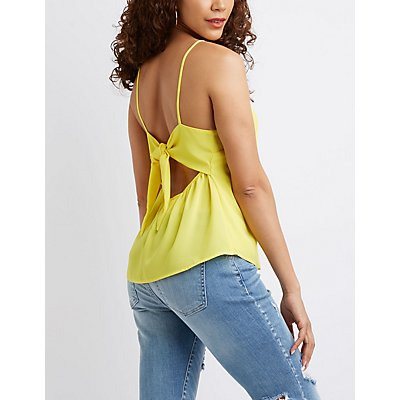 Bow Back Tank Top