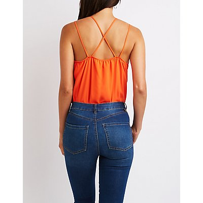 Wrap CrissCross Back Bodysuit