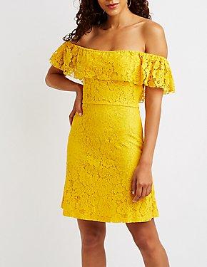 Lace Off The Shoulder Dress