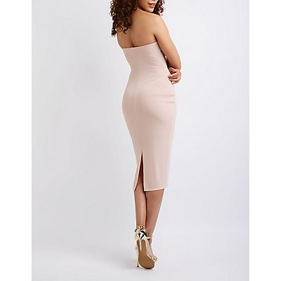 Strapless Bodycon Midi Dress