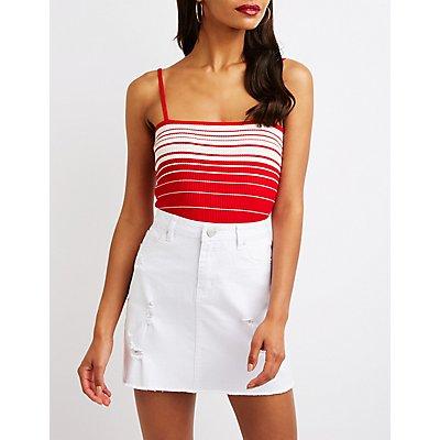 Ribbed Stripe Crop Top