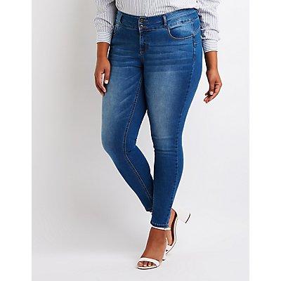 Plus Size High Waist Skinny Jeans