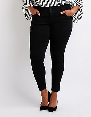 Plus Size Push Up Skinny Jeans