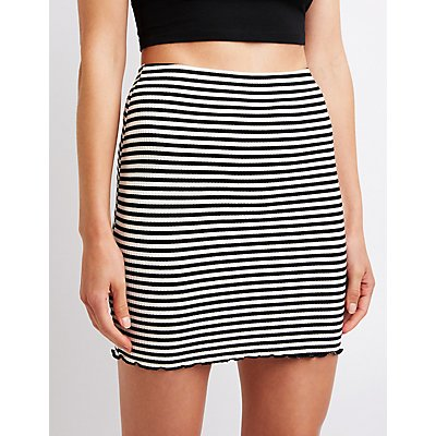Striped Bodycon Mini Skirt
