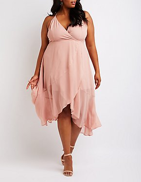 Plus Size Wrap Maxi Dress