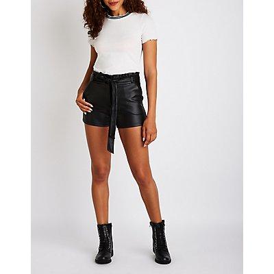 Ruffle Paperbag Shorts