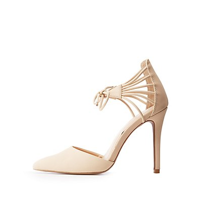 Tie Front Pointy Toe Pumps
