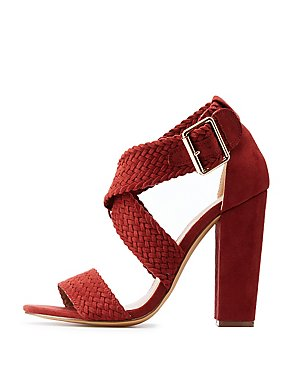 Braided Crisscross Heel Sandals