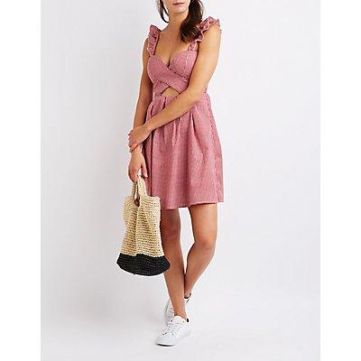 Gingham Wrap Sun Dress
