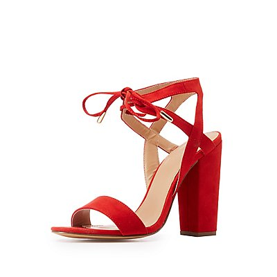 Open Toe Tie Front Sandals