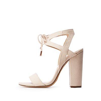 Open Toe Tie Front Sandals