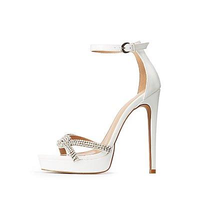 Crystal Ankle Strap Heels