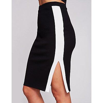 Single Stripe Bodycon Skirt