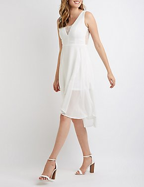 Lace Back Wrap Dress