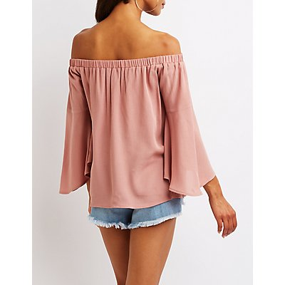 Off The Shoulder Keyhole Top