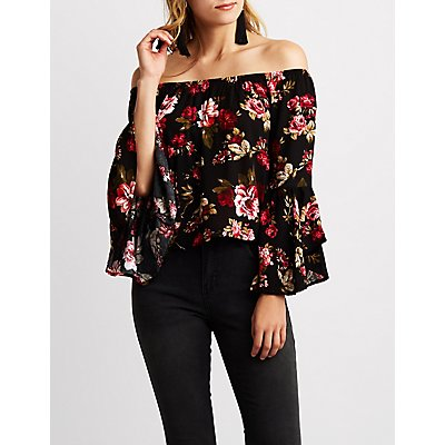 Floral Off The Shoulder Top