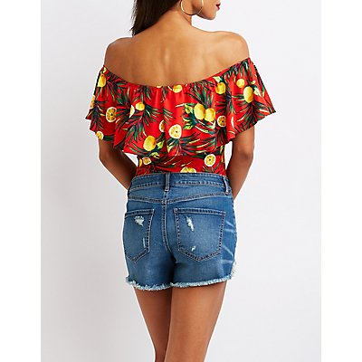 Tropical Off The Shoulder Bodysuit