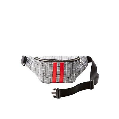 Plaid Belt Bag
