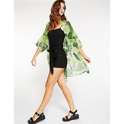 Leaf Print Kimono