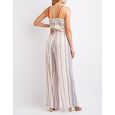 Printed Wide Leg Jumpsuit