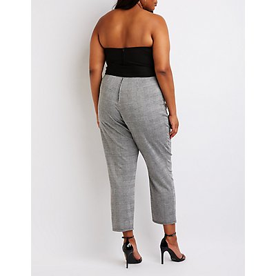 Plus Size Notched Tube Jumpsuit