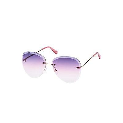 Rimless Ombre Sunglasses