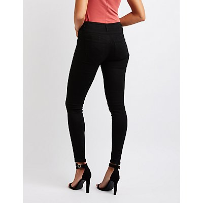 High Rise Push Up Jeans
