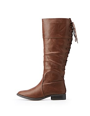 Lace-Up Riding Boots