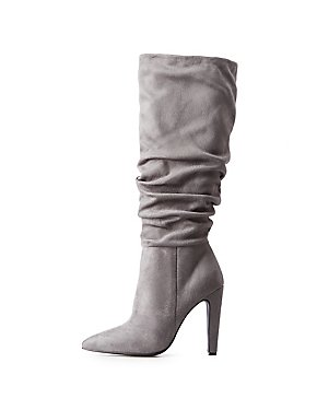 7738c314f1c Ruched Pointed Toe Boots