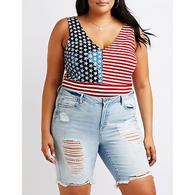 Plus Size Americana Bodysuit