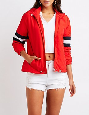 Hooded Wind Breaker Jacket