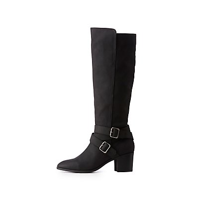Buckle Riding Boots