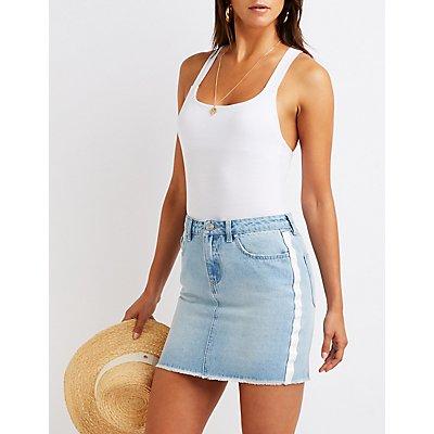 Refuge Stripe Denim Skirt