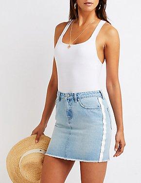 a652b50f01d Refuge Stripe Denim Skirt