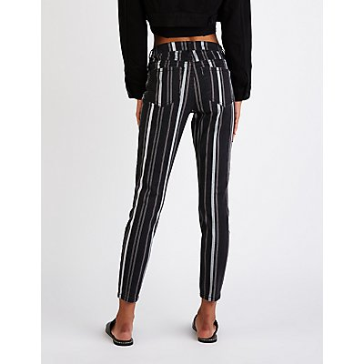 Refuge Striped Skinny Jeans