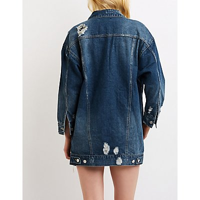 Refuge Destroyed Boyfriend Denim Jacket