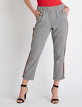 Striped Houndstooth Trousers