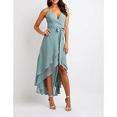 Strappy Wrap Maxi Dress