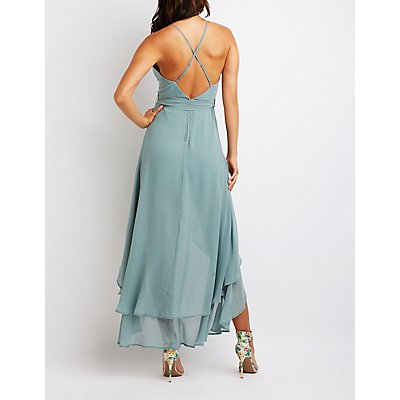 Strappy Wrap Maxi Dress