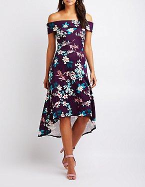 Floral Off The Shoulder Maxi Dress