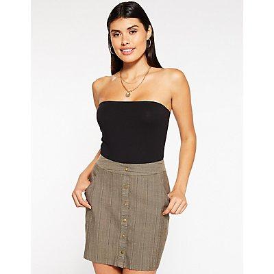 Striped Button Up Skirt